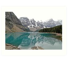 Lake Moraine - Banff National Park - Alberta - Canada  Art Print