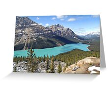 Peyto Lake - Banff National Park - Alberta - Canada Greeting Card