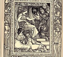 Spenser's Faerie queene A poem in six books with the fragment Mutabilitie Ed by Thomas J Wise, pictured by Walter Crane 1895 V5 191 - Arthur and Artegall Catch Guyle by wetdryvac