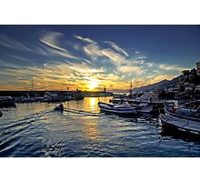 Camogli - Sunset - Italy  Photographic Print