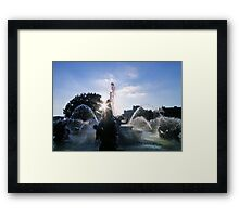 i can still taste the blue water on my lips where i last saw you Framed Print