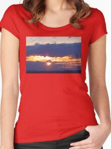 Larravide Md Sunset 77 Women's Fitted Scoop T-Shirt