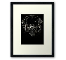The Silence on Black Framed Print