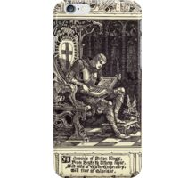 Spenser's Faerie queene A poem in six books with the fragment Mutabilitie Ed by Thomas J Wise, pictured by Walter Crane 1895 V2 237 - A Chronicle of Briton Kings iPhone Case/Skin