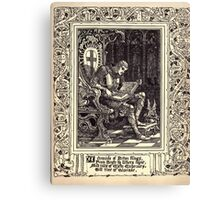 Spenser's Faerie queene A poem in six books with the fragment Mutabilitie Ed by Thomas J Wise, pictured by Walter Crane 1895 V2 237 - A Chronicle of Briton Kings Canvas Print