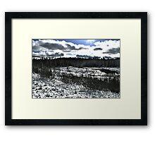Landscape Snow Framed Print