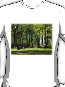 Sitting Amongst Bluebells T-Shirt