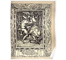 Spenser's Faerie queene A poem in six books with the fragment Mutabilitie Ed by Thomas J Wise, pictured by Walter Crane 1895 V6 87 - Malepine by a Savage Mane from Turpine Reskewed Is Poster
