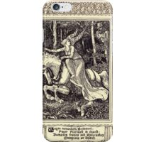 Spenser's Faerie queene A poem in six books with the fragment Mutabilitie Ed by Thomas J Wise, pictured by Walter Crane 1895 V3 21 - Guyon Encountereth Britomert iPhone Case/Skin