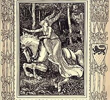 Spenser's Faerie queene A poem in six books with the fragment Mutabilitie Ed by Thomas J Wise, pictured by Walter Crane 1895 V3 21 - Guyon Encountereth Britomert by wetdryvac