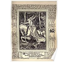 Spenser's Faerie queene A poem in six books with the fragment Mutabilitie Ed by Thomas J Wise, pictured by Walter Crane 1895 V3 21 - Guyon Encountereth Britomert Poster
