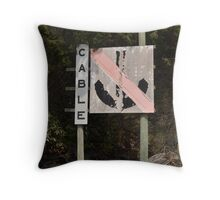 Faded Cable sign Throw Pillow