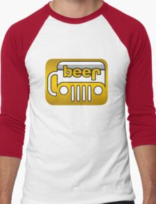 Beer Jeep Men's Baseball ¾ T-Shirt