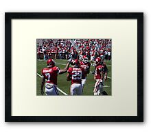 OU red and white game  Framed Print