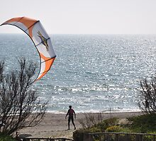 Zooming at a kitesurfer by Daniela Cifarelli