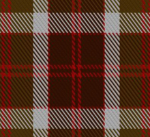 00398 Bannockbane Brown Tartan Sticker