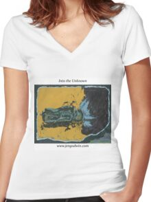 Into the Unknown (version with title and website) Women's Fitted V-Neck T-Shirt