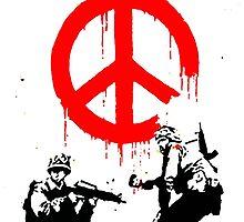 Banksy Soldiers by Monty Dean