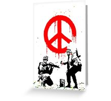 Banksy Soldiers Greeting Card