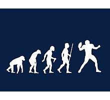 NFL Evolution of Man Funny T Shirt Photographic Print