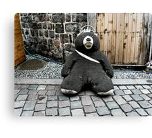 Lonely Berliner bear Canvas Print