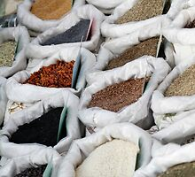 spices at the market by spetenfia