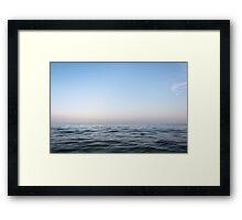 Sea & sky Framed Print