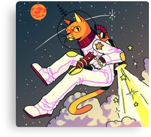 Space Cat Print Canvas Print