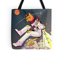 Space Cat Print Tote Bag
