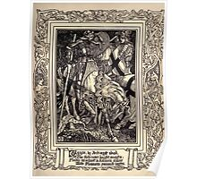 Spenser's Faerie queene A poem in six books with the fragment Mutabilitie Ed by Thomas J Wise, pictured by Walter Crane 1895 V2 19 - Guyon by Archmage Abused Poster