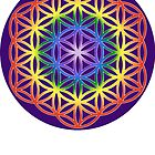 Chakra Flower of Life - Purple background by haymelter