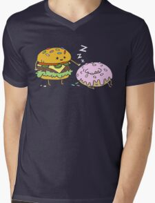 Cheeseburger Pranks Doughnut Mens V-Neck T-Shirt