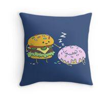 Cheeseburger Pranks Doughnut Throw Pillow