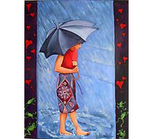 Raining Hearts and Frogs Photographic Print
