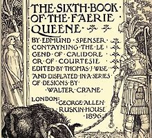 Spenser's Faerie queene A poem in six books with the fragment Mutabilitie Ed by Thomas J Wise, pictured by Walter Crane 1895 V6 13 - Sixth Book Title Plate by wetdryvac