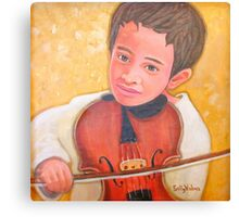 Zoltan Plays the Violin Canvas Print