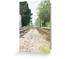 on track Greeting Card