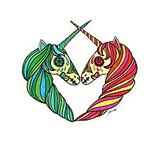 Heart Unicorns Photographic Print