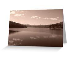 Maroondah Dam - Sepia Greeting Card