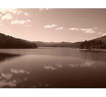 Maroondah Dam - Sepia Photographic Print