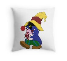 """""""Cuddles"""" with Vivi from FF9 Throw Pillow"""