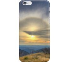 Sun halo over the high country iPhone Case/Skin
