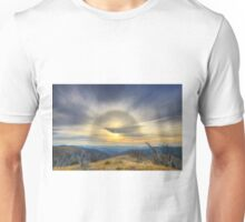 Sun halo over the high country Unisex T-Shirt