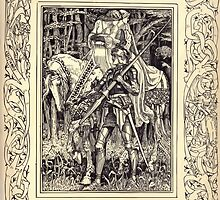 Spenser's Faerie queene A poem in six books with the fragment Mutabilitie Ed by Thomas J Wise, pictured by Walter Crane 1895 V4 187 - At last whe they were passed out of sight by wetdryvac