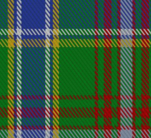 00372 Currie of Arran Family Tartan  Sticker