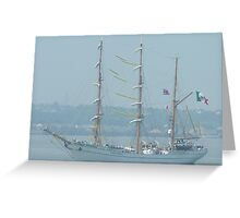 Tall ship on the Thames River, England Greeting Card
