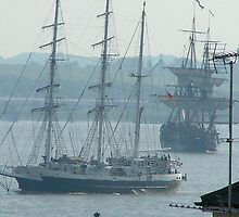 Training Ship and a Man of War by sweetcorn