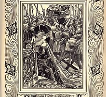 Spenser's Faerie queene A poem in six books with the fragment Mutabilitie Ed by Thomas J Wise, pictured by Walter Crane 1895 V5 249 - They Saw a Knight in Dangerous Distrease by wetdryvac