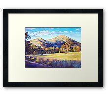 Autumn at Trawool Framed Print
