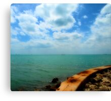 Past the Sea Wall Canvas Print
